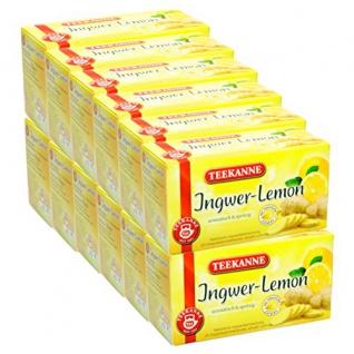 Teekanne Ingwer-Lemon aromatischer Ingwer mit spritziger Zitrone 12er Pack