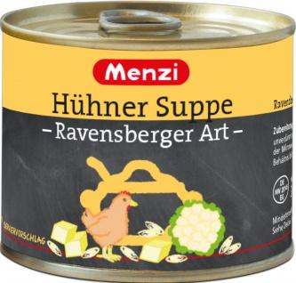 Menzi Hühner Suppe Ravensberger Art mit Blumenkohl 200ml 5er Pack