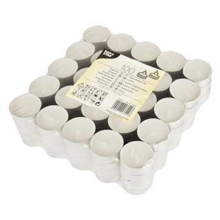 Teelichter weiß von Papstar 38 x 22 mm Brenndauer 8 H 100 Stück
