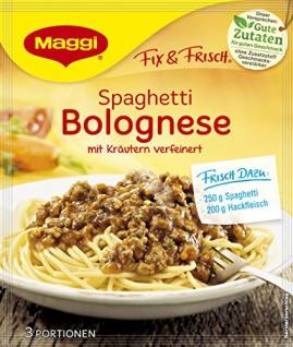 Maggi fix & frisch, Spaghetti Bolognese, 38 g Beutel, ergibt 3 Portionen 3er Pack