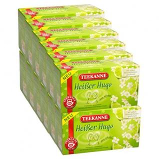 Teekanne Heißer Hugo mit feiner Holunderblüte und Limettenaroma 12er Pack