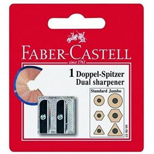 Faber Castell Sharpener Metalldoppelspitzer für Blei und Farbstifte