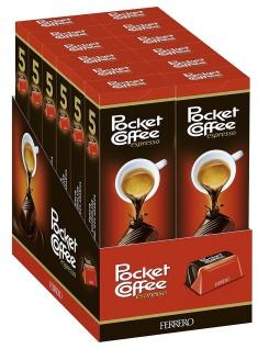 Ferrero Pocket Coffee aus Vollmilch & Halbbitterschokolade 62g 12er Pack
