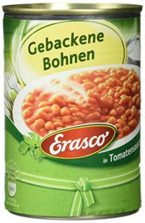 Erasco Gebackene Bohnen in Tomatensauce, 6er Pack (6 x 400 g)