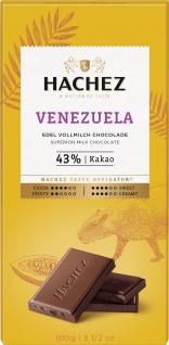 Hachez Venezuela Edel Vollmilch Schokoladen Tafel Feinherb 100g