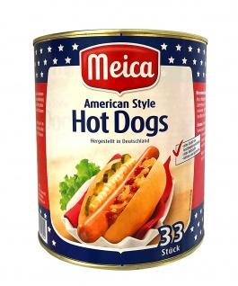 Würstchen HOT DOGS American Style (2900 g/33 Stück) GASTRONOMIE SPITZENQUALITÄT