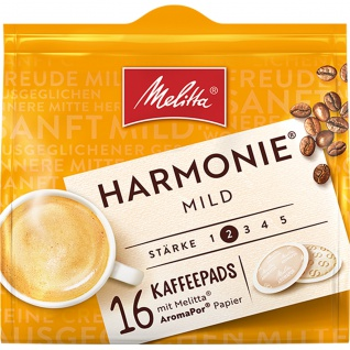 Melitta Kaffeepads Marmonie Mild naturmilde Röstung 16 Pads 112g
