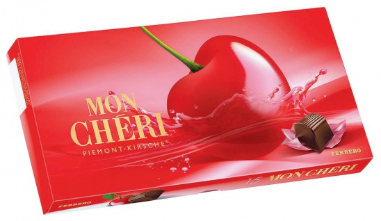 Ferrero Mon Chéri 15 einzeln verpackten Likör Kirsch Pralinen 157g
