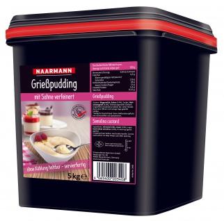 Naarmann Grießpudding mit Sahne verfeinert körnig cremig 5000g