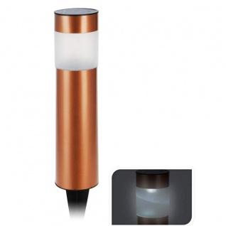 Koopman LED Solarleuchte in Bronze mit Bodenspieß witterungsbeständig