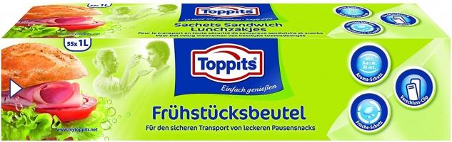Toppits Frühstücksbeutel für den sicheren Transport 55 x 1 Liter