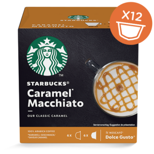 Starbucks Dolce Gusto Caramel Macchiato Arabica Kaffee 12 Kapseln