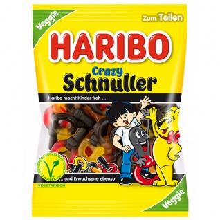 Haribo Crazy Schnuller Fruchtgummi mit Lakritz Gelatinefrei 200g