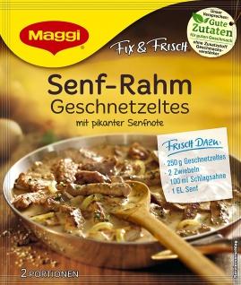 Maggi Fix Senf-Rahm Geschnetzeltes