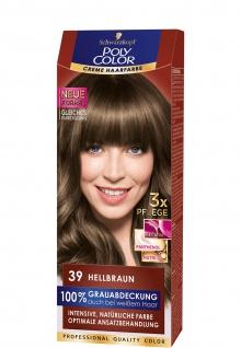 Schwarzkopf Henkel Poly Color Creme 39 Hellbraun Haarpfelege 3er Pack