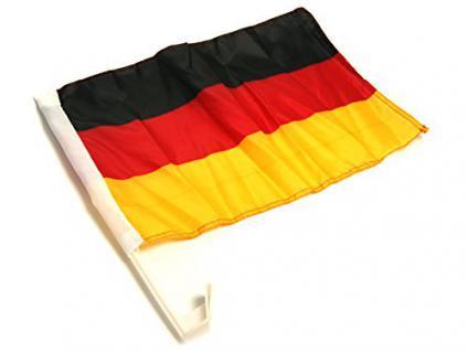 stabile große XL Deutschland Auto-KFZ-Fahne FLAGGE Bundes-Nationalfahne mit Fenster-Halter-Halterung XL-Fahnengröße: 42 x 32 cm