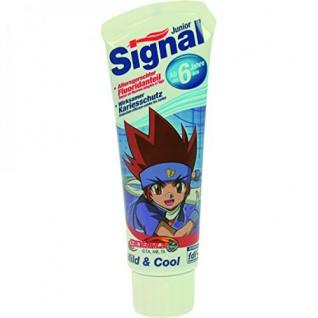 Signal Junior Zahnpasta Zahnpflege für Kinder Sortiert 75 ml 6er Pack