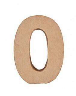 """Pappmache Zahl """" 0"""" stehend zum basteln kreativ Rico Design Idee"""