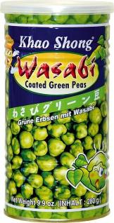 Khao Shong grüne Erbsen Wasabi mit japanischem Meerettich 280g 4er Pack