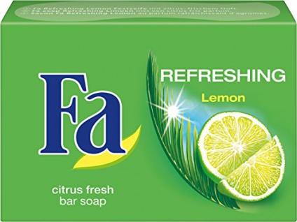Fa Seife Refreshing Lemon mit frischem zitrus Duft 100g 3er Pack