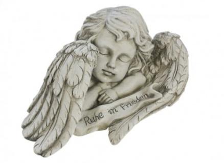 Grabengel Trauerengel zwischen den Flügeln steht Ruhe in Frieden