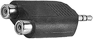 Stereo-Kompaktadapter Klinkenst. 3, 5mm 2 Cinchkup.