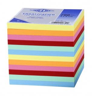 WEDO Zettelboxeinlage Ersatzpapier 9x9cm 7 Farbig 700 Blatt