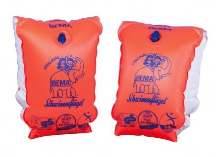 BEMA Schwimmflügel Größe 1 orange weiß Kinder von 6 bis 12 Jahre