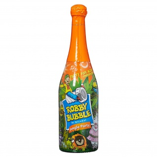 Robby Bubble Jungle Party perlender Mehrfruchtnektar Alkoholfrei 750ml
