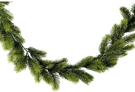 Edeltannengirlande Weihnachtsdekoration künstliche Tanne 180 cm