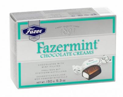 Fazermint Chocolate Creams Minzgefüllte Schokolade 150g 4er Pack