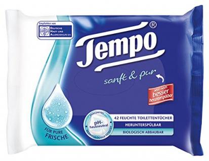 Tempo Sanft und Pur Toilettentücher für Pure frische 42 Stück