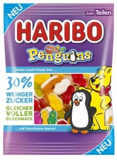 Haribo Penguins mit weniger Zucker Fruchtummi und Schaumzucker 160g