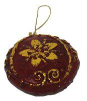 Christbaumschmuck orientalischer Stil Farbe rot gold Kreisförmig