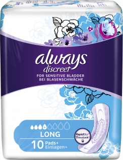 Always Discreet Inkontinenz Long, 1x10 Stück