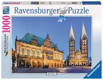 Ravensburger Puzzle - Bremen Blick aufs Rathaus - 1000 Teile 700x500mm