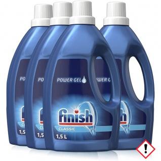 Finish Classic Power Gel Geschirrreiniger Flüssig 1500ml 4er Pack