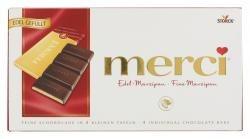 Storck Merci Edel Marzipan in 4 kleinen Täfelschen mit Schokolade 112g