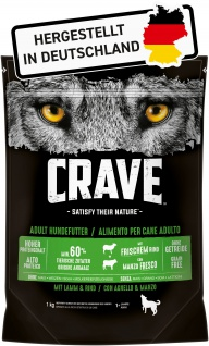Crave Trockenfutter für Hunde Adult mit Lamm und Rind 1000 g