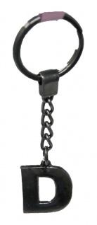 Schlüsselanhänger Taschenanhänger Buchstabenform D in silber