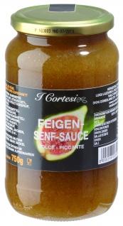 I Cortesi Feigensenfsauce aus leckeren Feigen Dolce - Piccante 750g 6er Pack