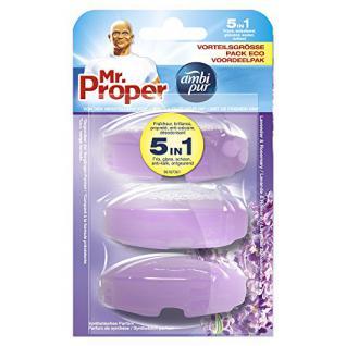 Mr.Proper Nachfüller Ambi Pur 5in1 Lavendel & Rosmarin WC-Stein flüssig, 3x55 ml - Vorschau