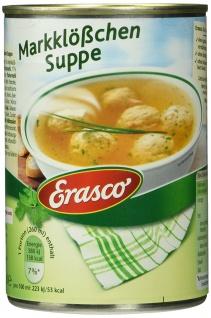 Erasco Markklößchen Suppe herzhaft mit Schnittlauch 390ml 3er Pack
