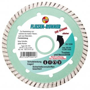 Disc Diamant Trennscheibe SF PD Fliesen Runner Die Dünne 115x22.2mm