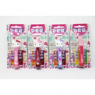 PEZ Hello Kitty Spender mit 2 Päckchen süßen Bonbons 17g Display