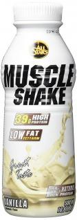 AllStars Muscle Shake Vanille Low Fat Protein Ready To Go 500ml - Vorschau 1