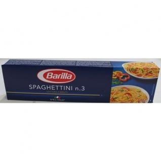 Barilla Hartweizen Pasta Spaghettini nummer 3 - 1er Pack 500g