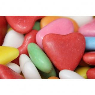 Baiser Herzen dragierte Schaumzucker Herzen mit Fruchtgeschmack 125g