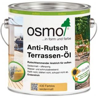 Osmo Anti Rutsch Terrassen Öl farblos für alle Holzterrassen 750ml