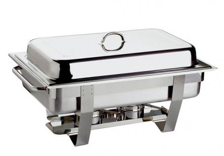 Chafing Dish Set - Profi- 61 x 31 cm, Edelstahl rostfrei inkl. GN-Behälter 1/1, 9 Liter + 2x GN-Behälter 1/2, 3, 5 Liter 2 Brennpastenbehälter